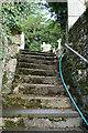 SX3954 : Antony: steps to churchyard by Martin Bodman