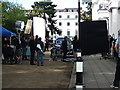 SP3166 : Clarendon Square closed for film shoot by John Brightley