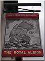 TQ7555 : The Royal Albion, Pub Sign, Maidstone by David Anstiss
