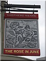 TR3571 : The Rose In June, Pub Sign, Margate by David Anstiss