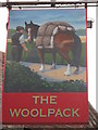 TR0753 : The Woolpack, Pub Sign, Chilham by David Anstiss