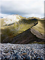 NN1365 : The Mamores ridge towards Stob Ban by Karl and Ali