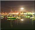 J5081 : Bangor Marina at night : Week 39
