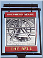 TQ8642 : The Bell sign by Oast House Archive