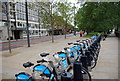 TQ3078 : Bikes for Hire, Albert Embankment by N Chadwick
