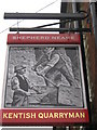 TQ7158 : Kentish Quarryman, Pub Sign, Ditton by David Anstiss