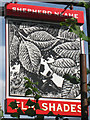 TQ2749 : The Elm Shades sign by Oast House Archive