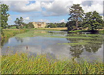 SO8844 : Croome Court from the bend in the Croome River by Trevor Rickard