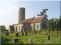 TM4888 : Mutford St Andrew�s church by Adrian S Pye
