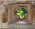 TQ2441 : St Nicholas, Charlwood, Surrey - Porch window : Week 40