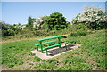 TQ8567 : Bench by the Saxon Shore Way by N Chadwick