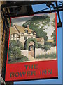 TQ7555 : The Bower Inn, Pub Sign, Maidstone by David Anstiss