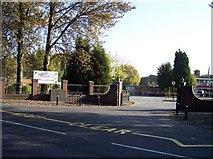 SD5409 : Entrance to Shevington High School by Raymond Knapman