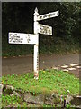 SW7724 : Signpost at Carne by Philip Halling