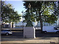 TQ2777 : Ornamental lamp-post on Chelsea Embankment by PAUL FARMER