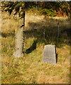 SH6742 : FR Llyn Ystradau Deviation Memorial Stone, Dduallt, Gwynedd by Peter Trimming