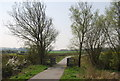 TQ5206 : National Cycle Route 2 crosses a small stream near Berwick by N Chadwick