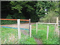 TR1134 : Saxon Shore Way crosses the access road to Coombe Farm by David Anstiss