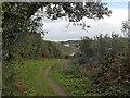 SW8937 : South West Coast Path near Pendower Court by Row17