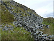 SH8515 : Rock outcrop on the south side of Foel Benddin by Richard Law