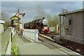 TL0997 : Entering Wansford station, NVR, 1992 by Robin Webster