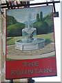TQ8109 : The Fountain sign by Oast House Archive