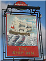 TQ9116 : The Ship Inn sign by Oast House Archive