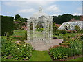 SJ6781 : Gazebo, walled gardens, Arley Hall by Colin Park