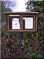 TM3881 : Spexhall Village Notice Board by Adrian Cable