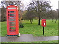 TM3674 : Telephone  Box &amp; Walpole Green Postbox by Adrian Cable