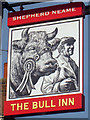 TQ9239 : The Bull Inn sign by Oast House Archive