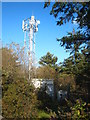 SW7021 : Communications mast near Bonython Wind Farm by Rod Allday