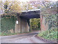 TM3254 : Railway Bridge in Rendlesham Road by Adrian Cable