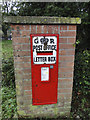 TM2788 : GR letterbox in a brick pillar by Adrian S Pye