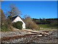 SW7827 : Boathouse on Porth Sawsen beach by Rod Allday