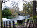 TQ2782 : The bridge over the boating lake in Regent's Park by Ian S