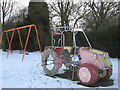 TQ4459 : Tractor in Cudham Recreational Ground by David Anstiss