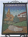 TQ4459 : Close up of Cudham Village Sign by David Anstiss