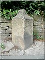SE1230 : Defaced milestone, Highgate Road, Clayton Heights by Humphrey Bolton