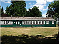TL1348 : Old prefabricated building at Moggerhanger Park by John Brightley