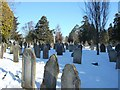 SX9392 : Exeter Cemetery on Christmas Day by David Smith