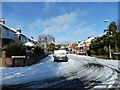 SU6805 : Boundary of a snowy Second Avenue and St. Andrew's Road by Basher Eyre