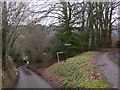 SU7428 : Footpath to Oakshott Hanger leads off minor road : Week 52