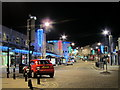 TQ8109 : Queens Road Christmas lights by Oast House Archive