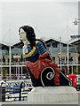 SZ6299 : Statue at Gunwharf Quays, Portsmouth : Week 1