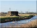 TF5701 : Pillbox near Creek Farm, one mile east of Nordelph by Adrian S Pye