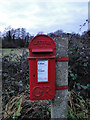 TM4465 : GR V postbox at Flash Corner, Theberton by Adrian S Pye