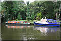 TQ7556 : Narrowboat on the River Medway by N Chadwick