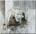 TL4238 : St Swithun, Great Chishill - Corbel by John Salmon