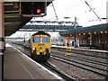 SE5703 : Doncaster station: northbound freight by Stephen Craven